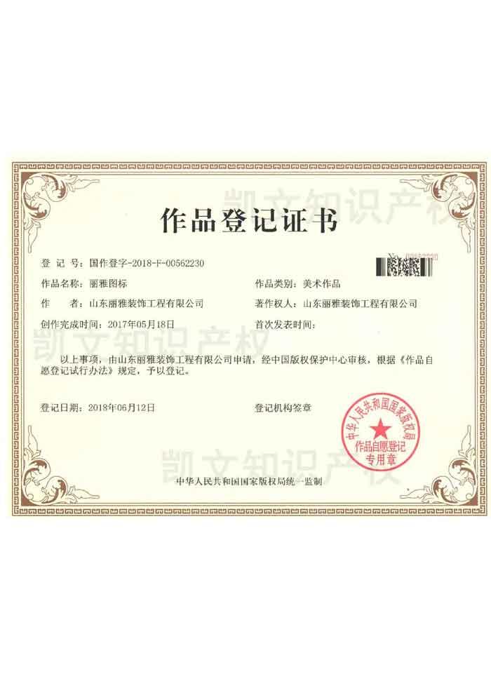 作品登记证书3