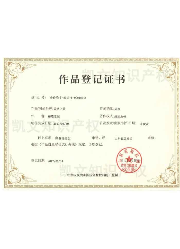 作品登记证书7